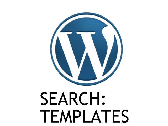 [Tutorial #25] Search in WordPress -1: Templates