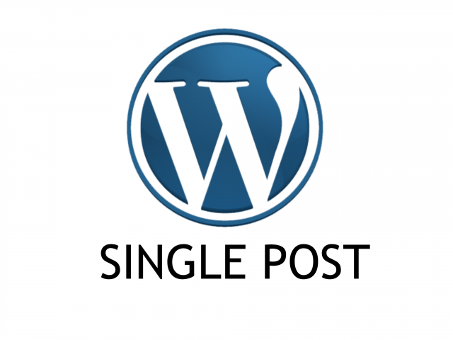 [Tutorial #24] Single Post