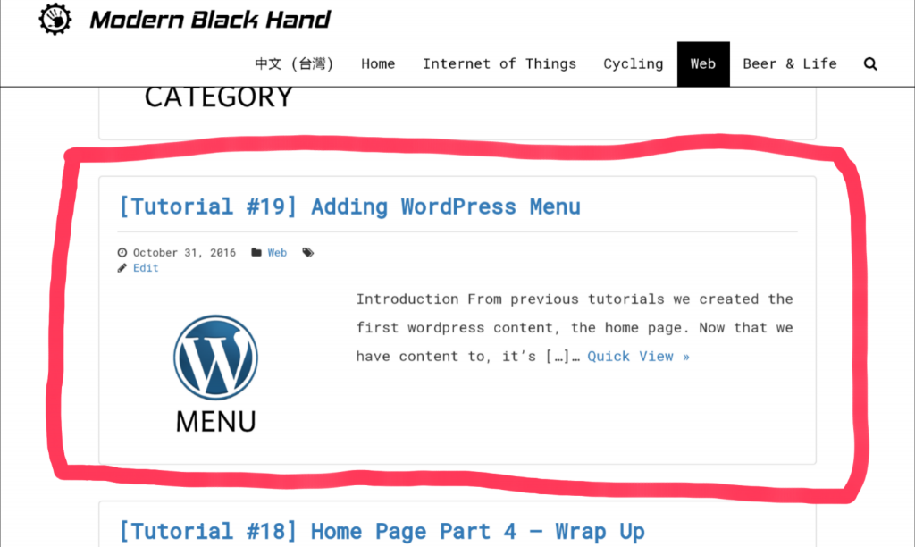 Web Tutorial #21 Category Part 2 Listing Posts Modern